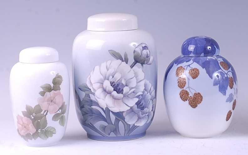 Lot 3-A Royal Copenhagen large porcelain ginger jar,...
