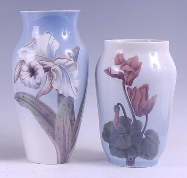 Lot 4-A Royal Copenhagen large porcelain vase, of...