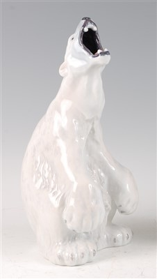 Lot 10-A Royal Copenhagen porcelain model of a Polar...