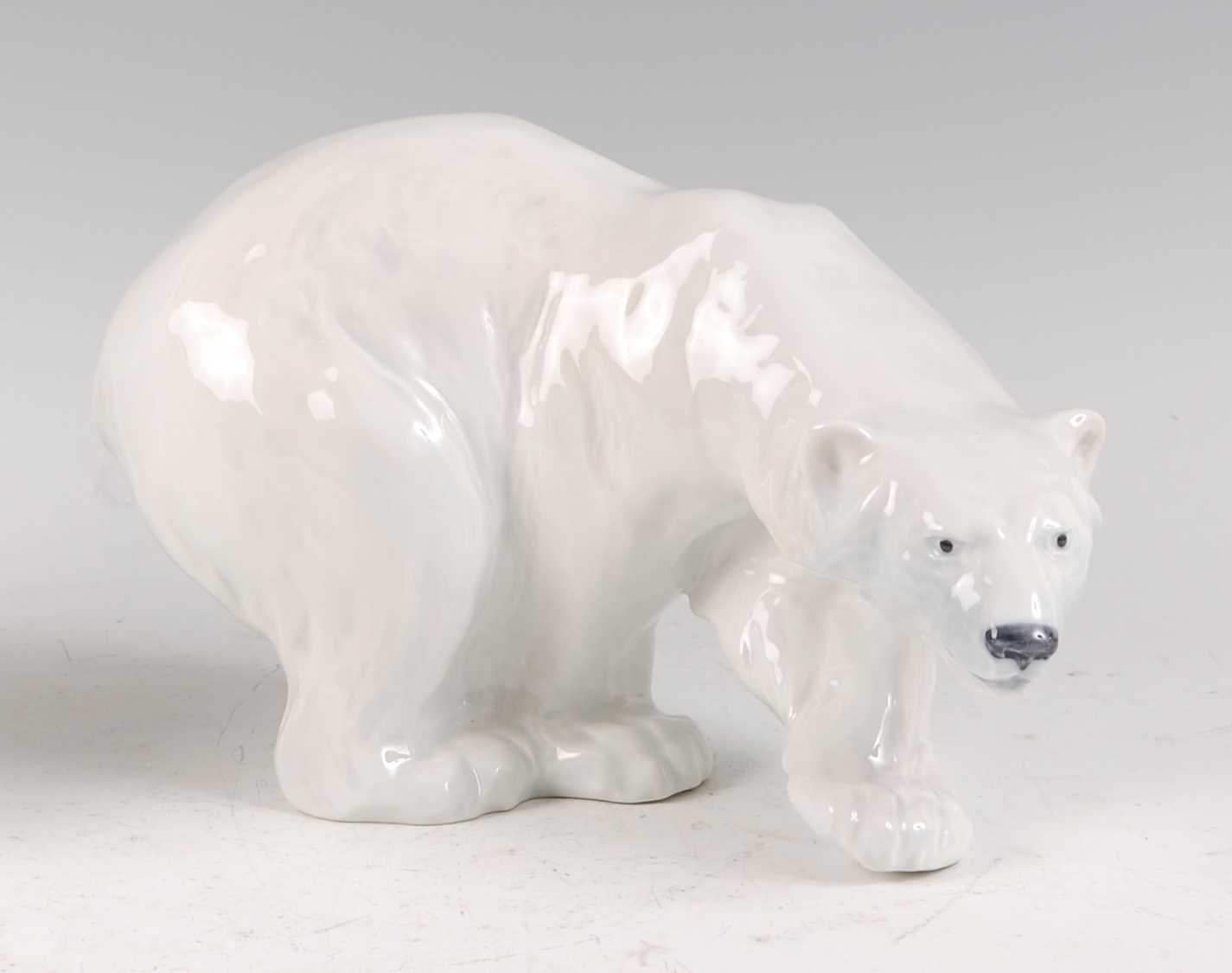 Lot 11-A Royal Copenhagen porcelain model of a Polar...
