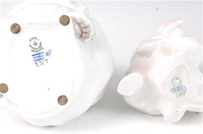 Lot 12-A Royal Copenhagen porcelain model of two playful ...