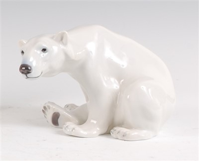 Lot 14-A Royal Copenhagen porcelain model of a Polar...