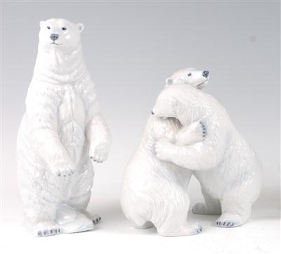 Lot 15-A Royal Copenhagen porcelain model of a Polar...