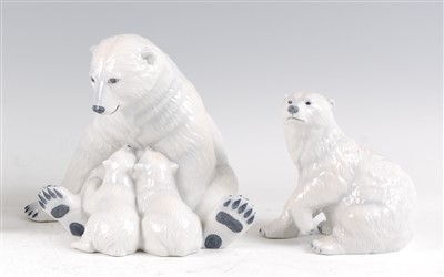 Lot 16-A Royal Copenhagen porcelain model of a Polar...