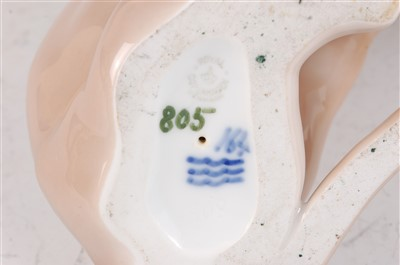 Lot 22-A Royal Copenhagen porcelain model of a young...