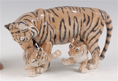 Lot 23-A Royal Copenhagen porcelain model of a Tiger and ...