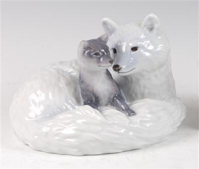 Lot 27 - A Royal Copenhagen large porcelain model of an...