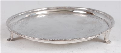 Lot 1138 - A George III silver salver, having a gadrooned...