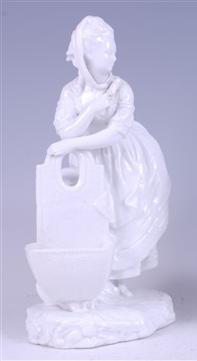 Lot 1007-A 19th century Meissen blanc-de-chine figure of a ...