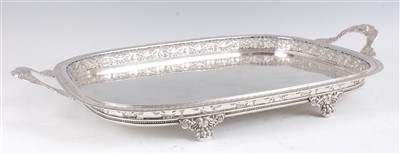 Lot 1142 - A 19th century continental silver drinks tray,...
