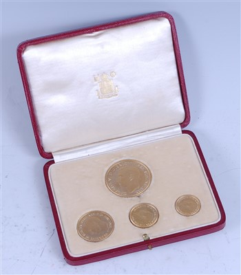Lot 2141-Great Britain, 1937 gold four coin specimen set
