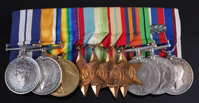 Lot 340-A family group of ten medals to include