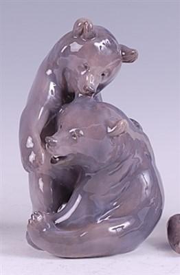 Lot 56 - A Royal Copenhagen porcelain model of a pair...