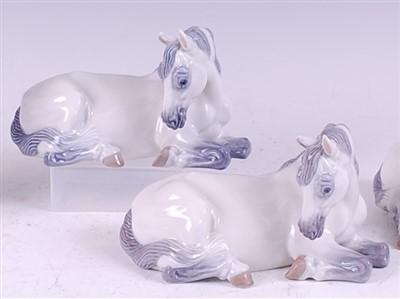 Lot 65 - A pair of Royal Copenhagen porcelain models of...