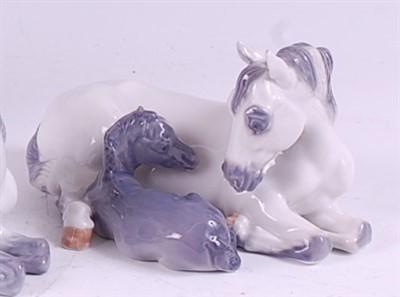 Lot 66 - A Royal Copenhagen porcelain model of a mare...