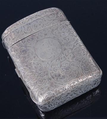 Lot 1127 - A late Victorian silver combination snuff box...