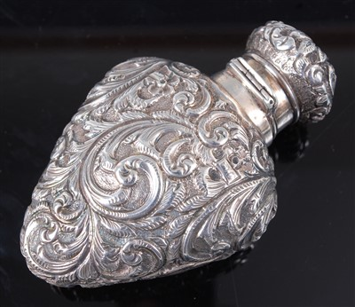 Lot 1128 - A Victorian silver scent bottle, the whole...