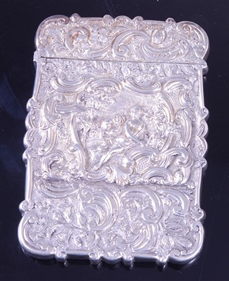 Lot 1132 - A Victorian silver visiting card case, of...