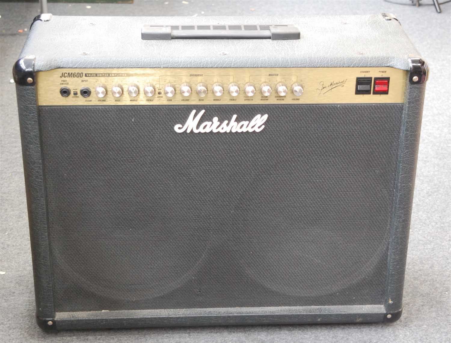Lot 617-A Marshall JCM600 Valve Guitar Amplifier