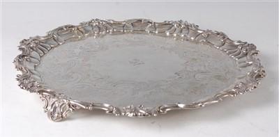 Lot 1143 - An early Victorian silver salver, having...