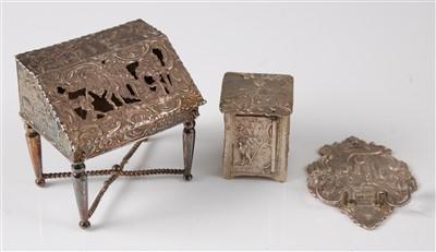 Lot 1136 - A late 19th century Dutch silver miniature...