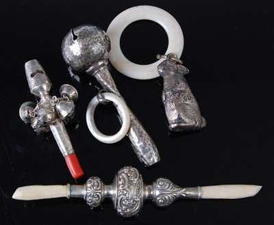 Lot 1157 - A late 19th century continental white metal...