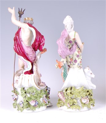 Lot 1012-A pair of late 19th century Meissen Dresden...