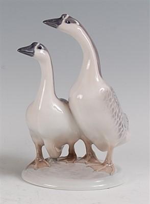 Lot 84 - A Royal Copenhagen porcelain model of a pair...
