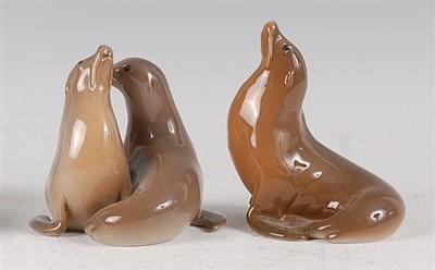 Lot 89 - A Royal Copenhagen porcelain model of a pair...