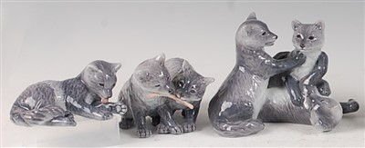 Lot 90 - A Royal Copenhagen porcelain model of three...