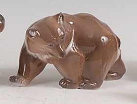 Lot 92 - A Royal Copenhagen porcelain model of a Brown...