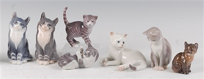 Lot 95 - A pair of Royal Copenhagen porcelain models of...