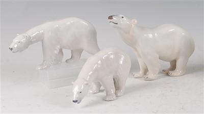 Lot 96 - A Royal Copenhagen porcelain model of a Polar...