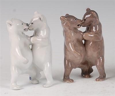 Lot 98 - A Royal Copenhagen porcelain model of a pair...
