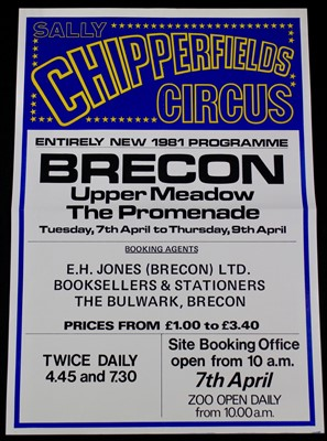 Lot 2-Sally Chipperfield's circus posters, 1980's, 64cm ...