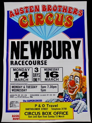 Lot 3-Austen Brothers circus posters,1980's, 64cm x...