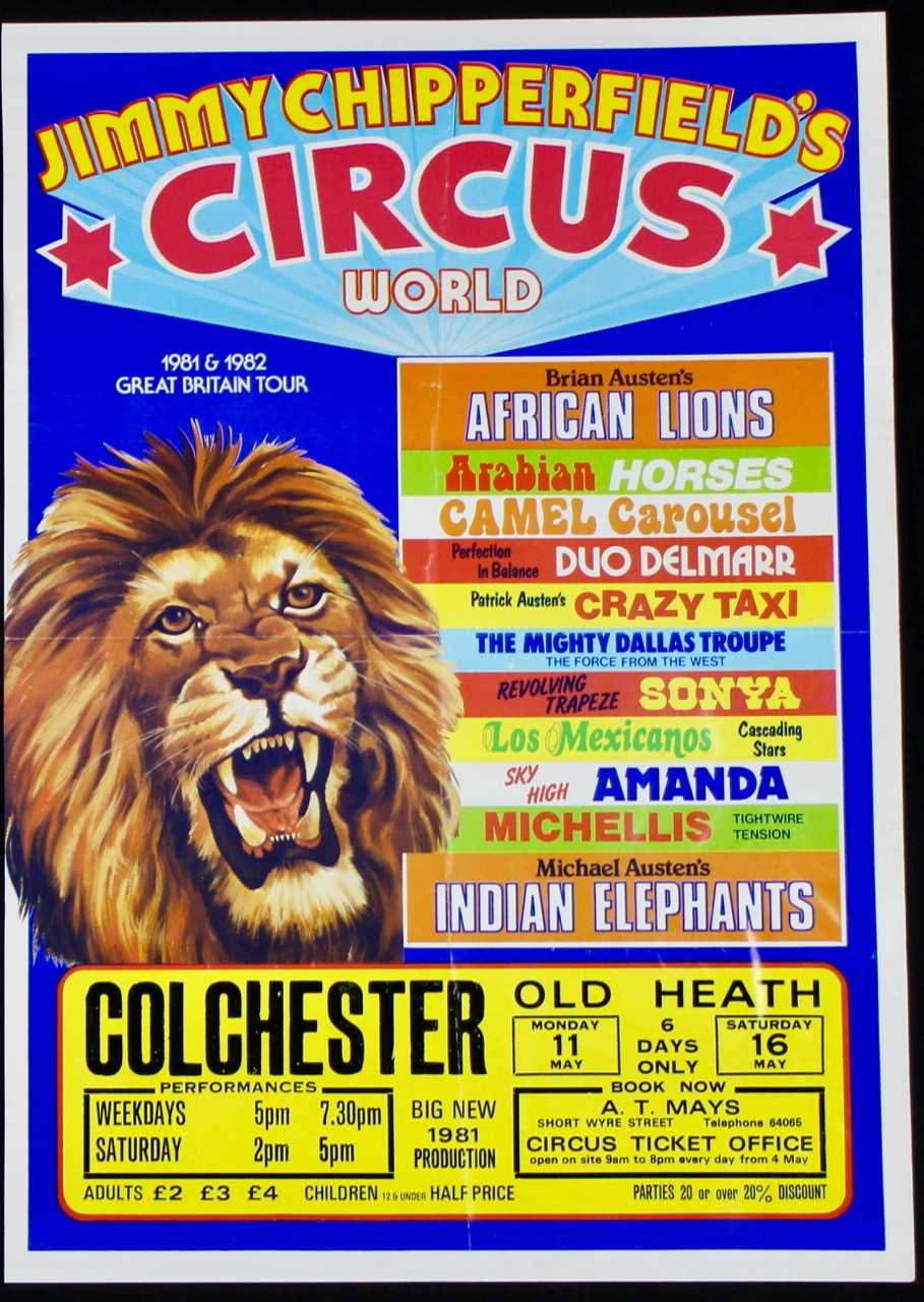 Lot 4-Jimmy Chipperfield's and Austen Brothers circus,...