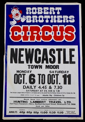 Lot 7-Roberts Brothers circus posters 1970/80's (5)