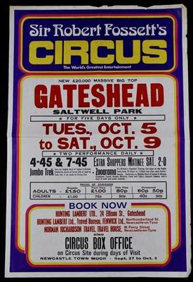 Lot 10-Sir Roberts Fossett's circus posters,1970/80's...