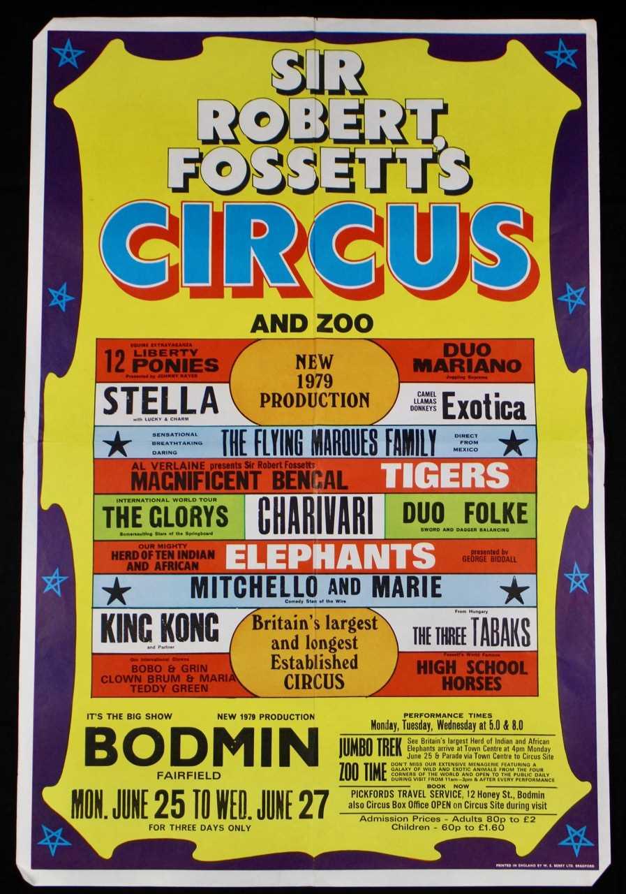 Lot 11-Sir Robert Fossett's circus posters, 1970's (3)