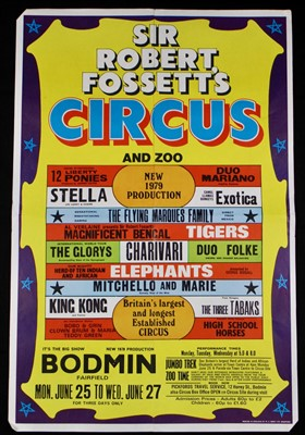 Lot 11-Sir Robert Fossett's circus posters, 1970's (3)
