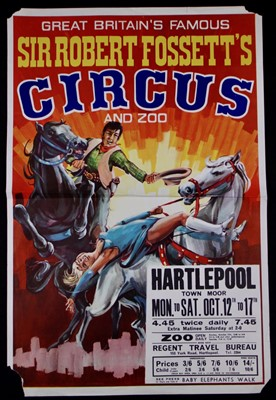 Lot 13-Sir Robert Fossett's circus posters, 1970's (2)