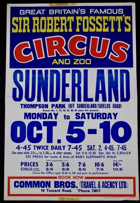 Lot 14-Sir Robert Fossett's circus posters, 1970's, one...