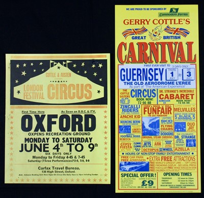 Lot 16-Gerry Cottle's circus posters, 1970-90s (3)