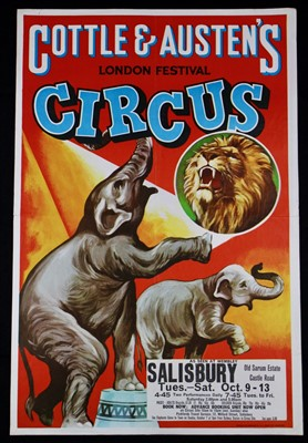 Lot 18-Cottle and Austen's circus posters, 1970's and...