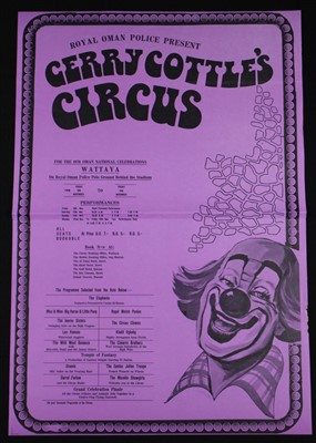 Lot 20-Gerry Cottle's circus posters, 1970's (3)