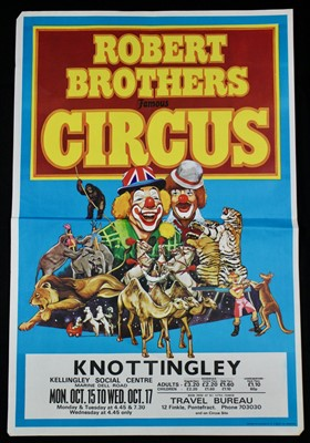 Lot 21-Robert Brothers circus posters, 1970's (5)
