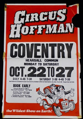 Lot 22-Circus Hoffman posters, 1970's (3)