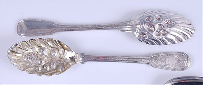 Lot 1108 - A pair of George III Irish silver berry...