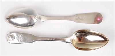 Lot 1072 - A set of eleven late Georgian silver teaspoons,...